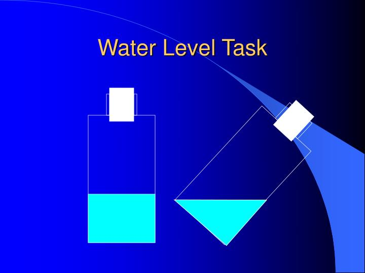Water Level Task