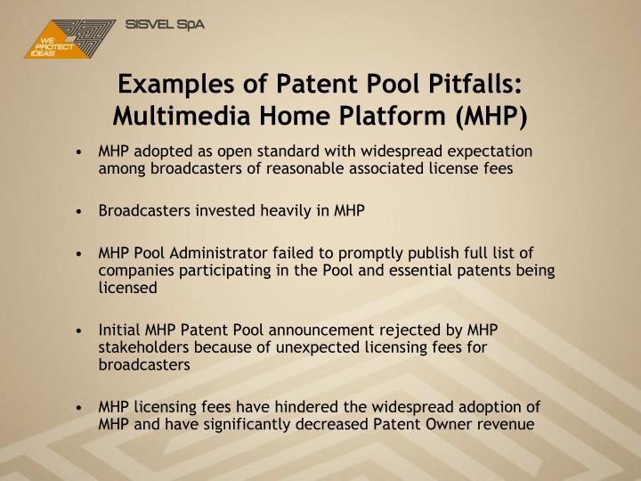 Examples of Patent Pool Pitfalls: Multimedia Home Platform (MHP)