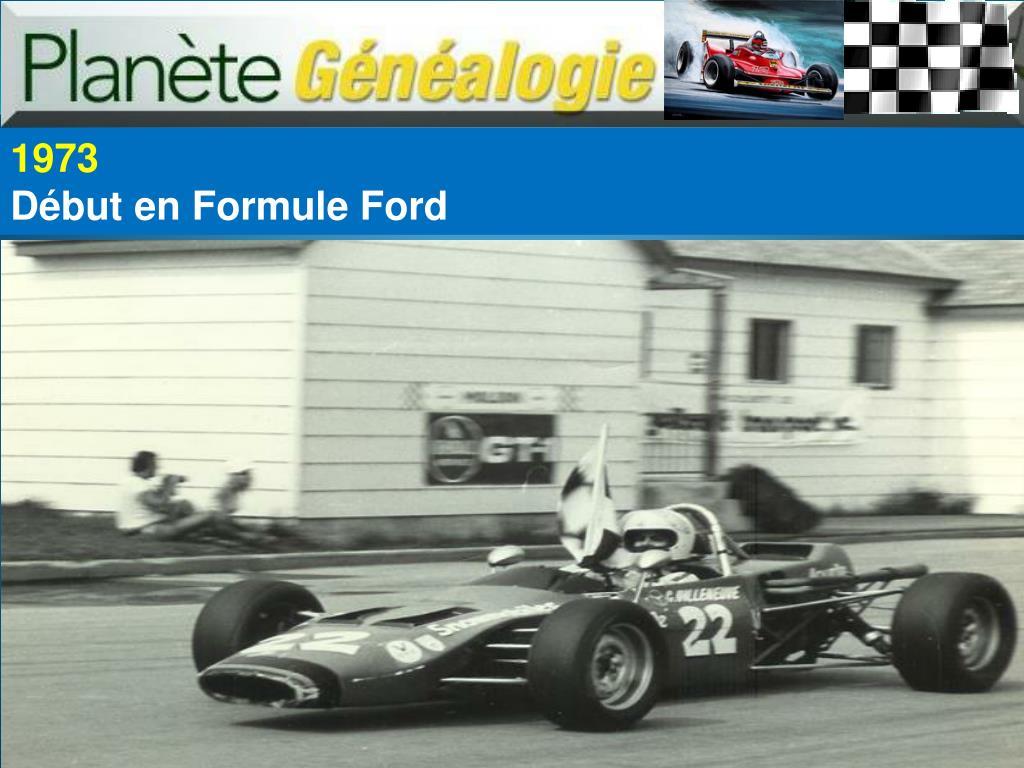 Début en Formule Ford