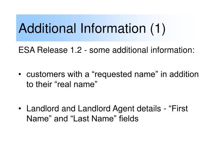 Additional Information (1)