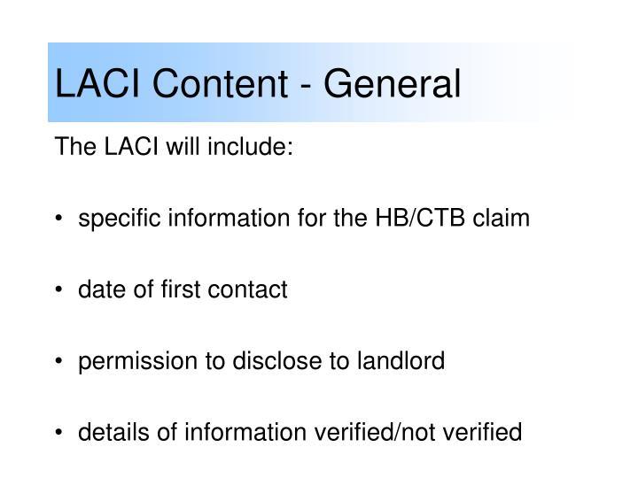 LACI Content - General