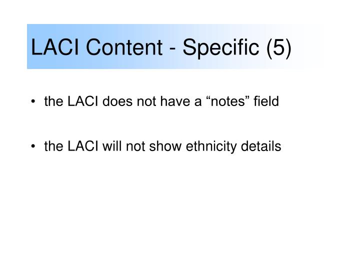 LACI Content - Specific (5)