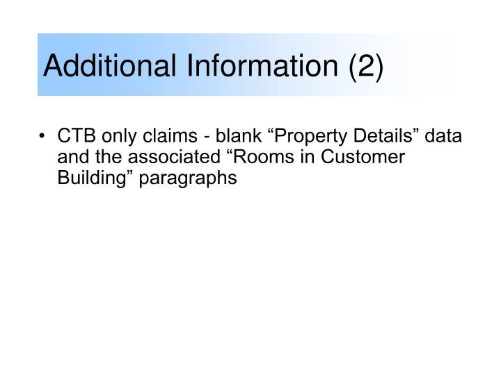 Additional Information (2)