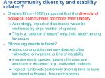 are community diversity and stability related