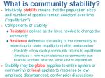 what is community stability