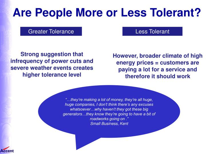 Are People More or Less Tolerant?