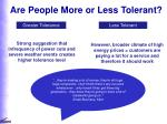 are people more or less tolerant