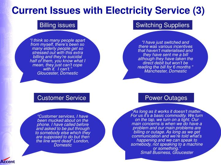 Current Issues with Electricity Service (3)