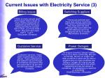 current issues with electricity service 3