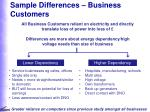 sample differences business customers