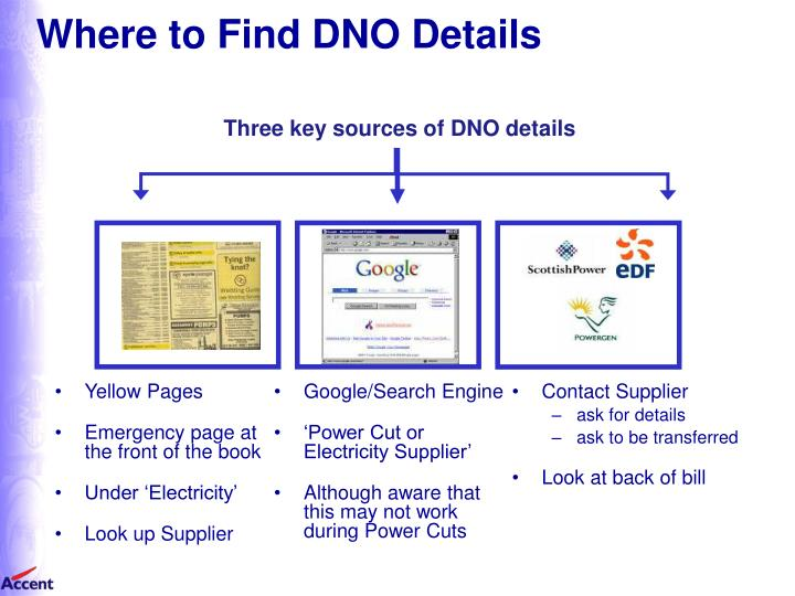 Where to Find DNO Details
