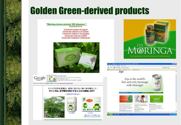 Golden Green-derived products