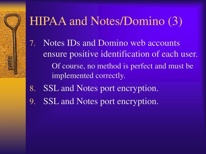 HIPAA and Notes/Domino (3)