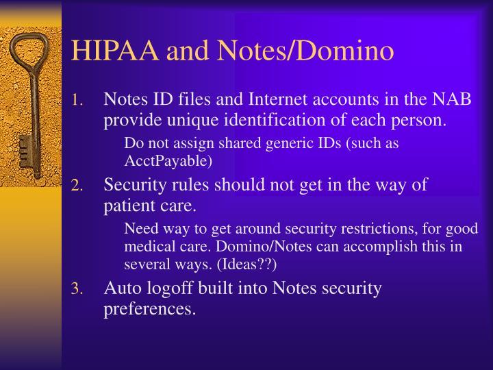 HIPAA and Notes/Domino