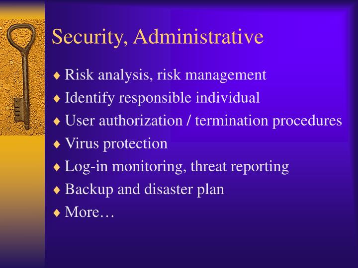 Security, Administrative