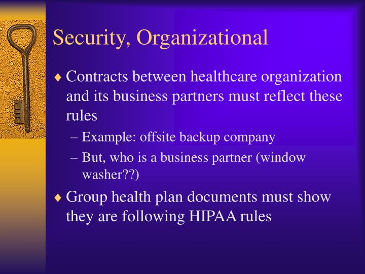 Security, Organizational