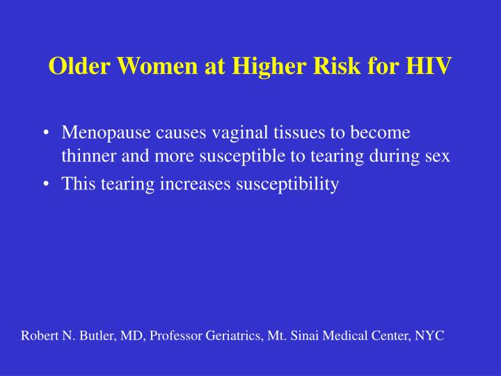 Older Women at Higher Risk for HIV