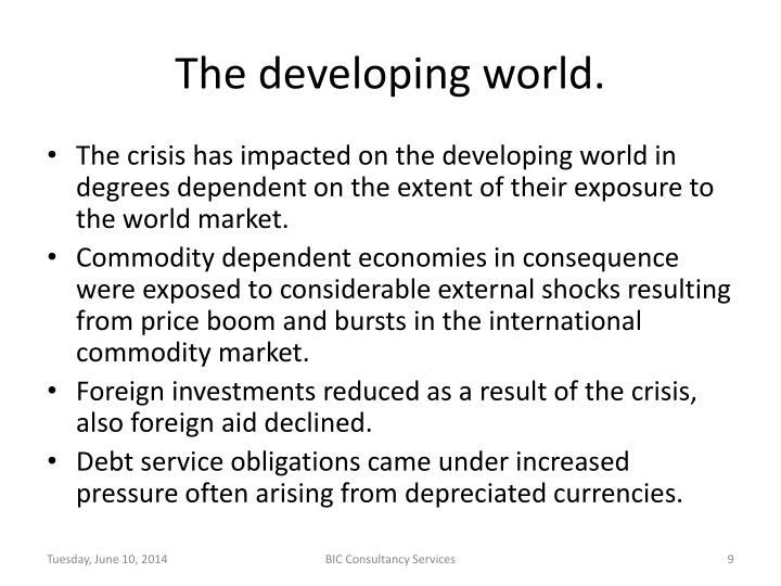 The developing world.