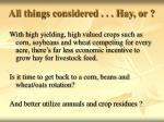 all things considered hay or