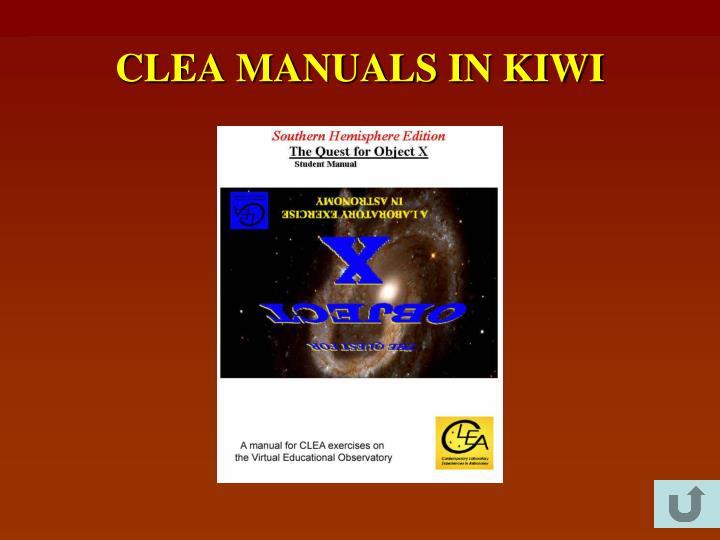CLEA MANUALS IN KIWI