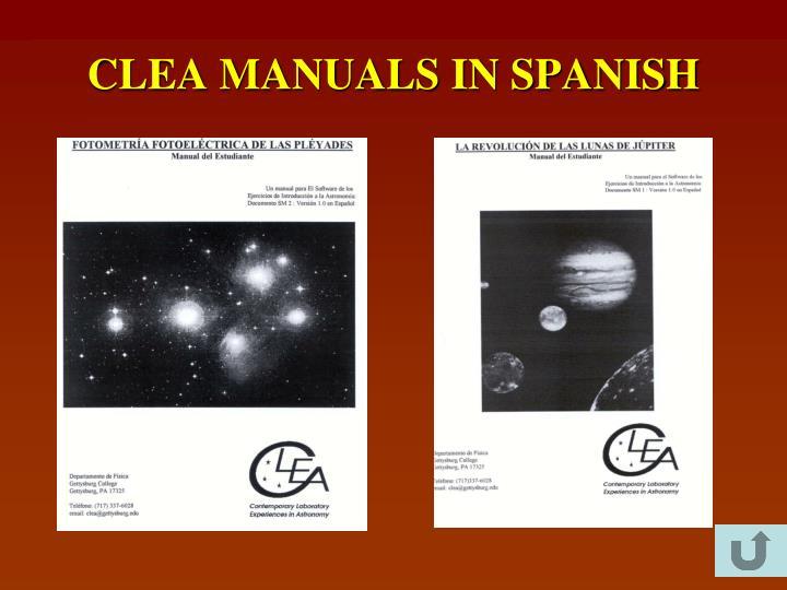 CLEA MANUALS IN SPANISH