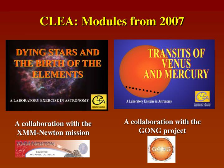 CLEA: Modules from 2007