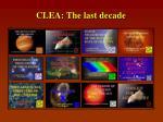 clea the last decade