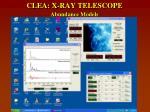 clea x ray telescope abundance models