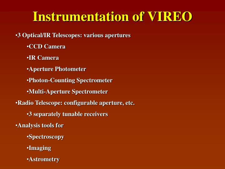 Instrumentation of VIREO