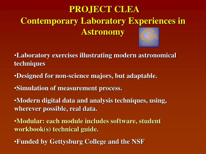 PROJECT CLEA