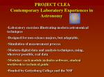 project clea contemporary laboratory experiences in astronomy