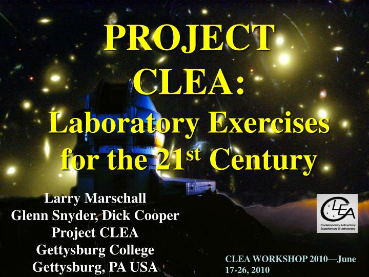 PROJECT CLEA: