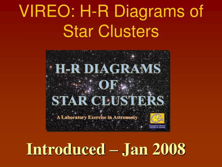 VIREO: H-R Diagrams of