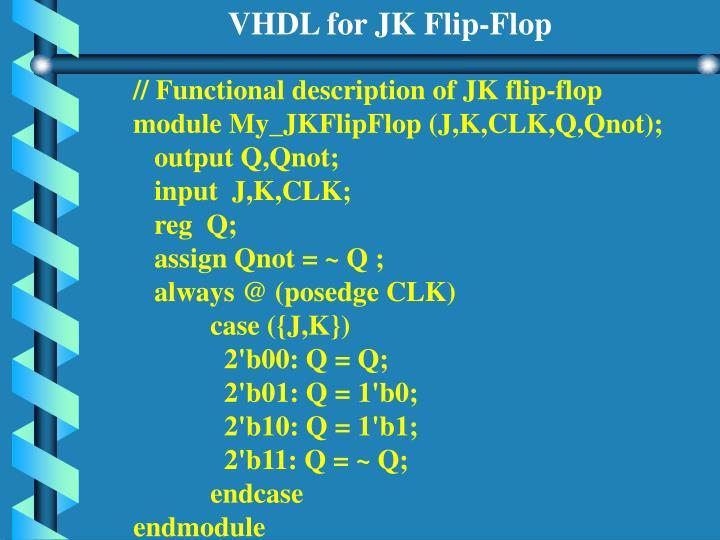 VHDL for JK Flip-Flop
