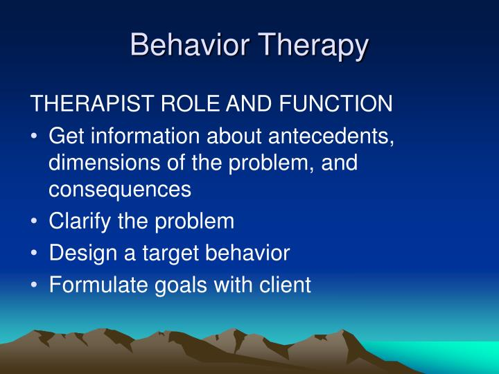 Behavior Therapy