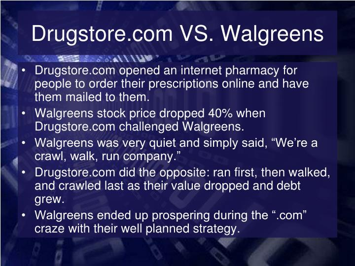 Drugstore.com VS. Walgreens