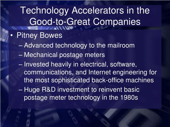 Technology Accelerators in the