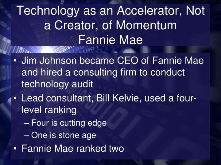 Technology as an Accelerator, Not a Creator, of Momentum