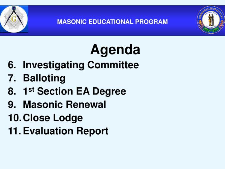 MASONIC EDUCATIONAL PROGRAM