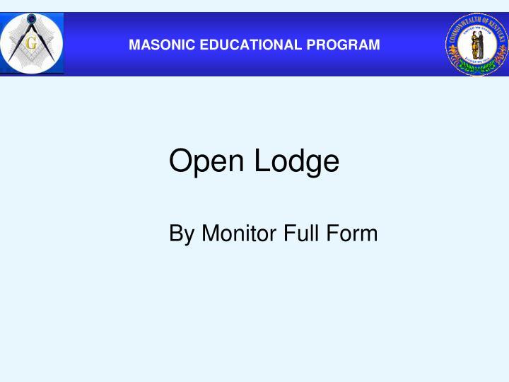 Open Lodge