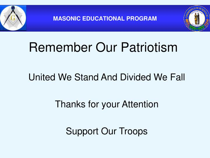Remember Our Patriotism