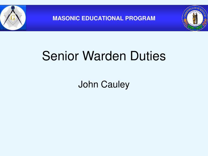 Senior Warden Duties