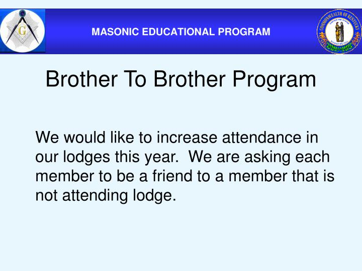 Brother To Brother Program