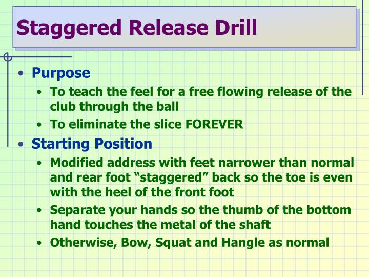 Staggered Release Drill