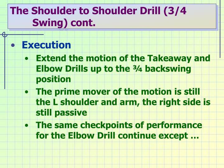 The Shoulder to Shoulder Drill (3/4