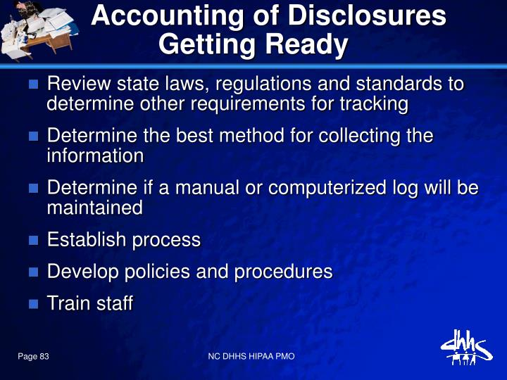 Accounting of Disclosures