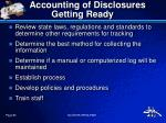 accounting of disclosures getting ready