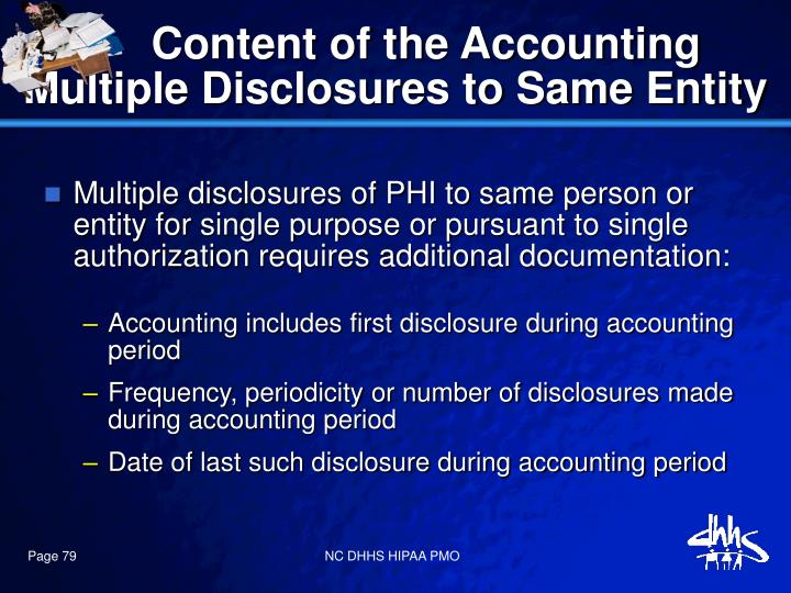 Content of the Accounting
