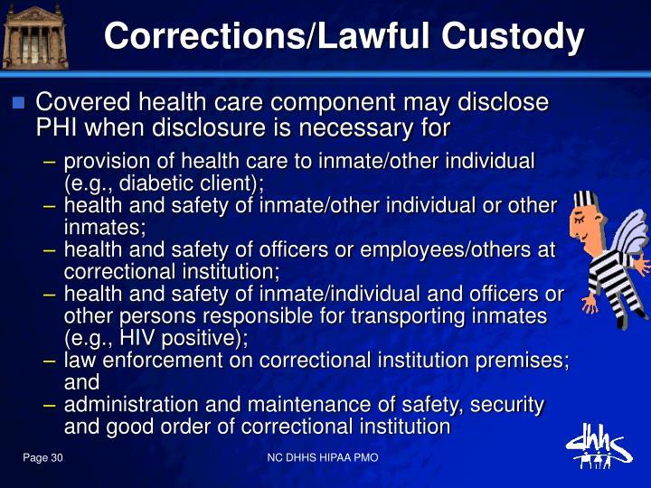 Corrections/Lawful Custody