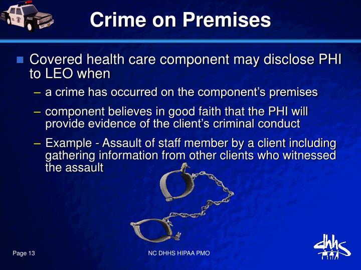 Crime on Premises